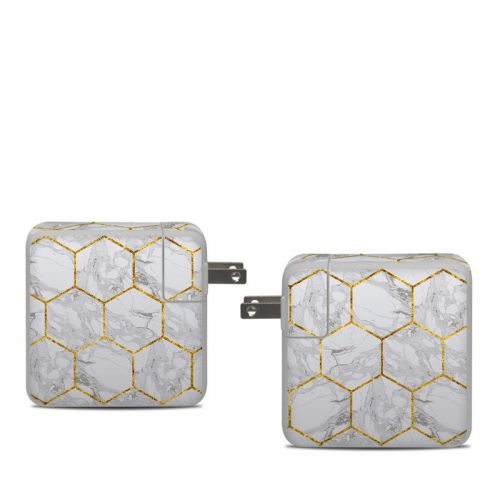 Honey Marble Apple 61W USB-C Power Adapter Skin