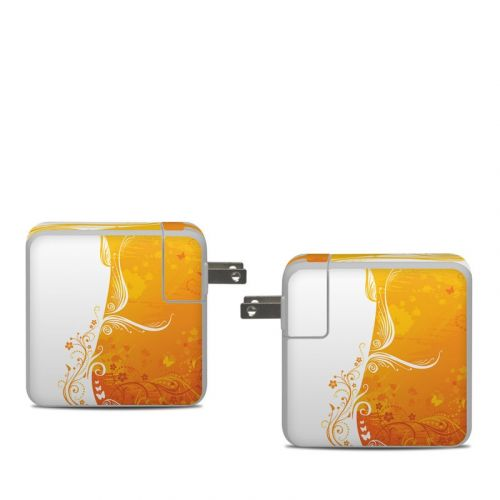 Orange Crush Apple 61W USB-C Power Adapter Skin
