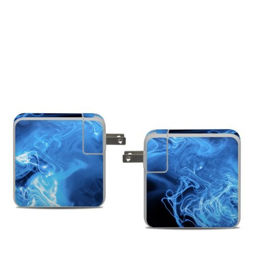 Blue Quantum Waves Apple 61W USB-C Power Adapter Skin
