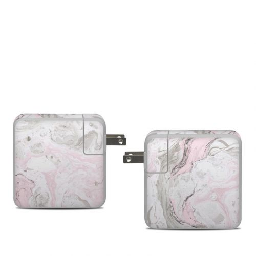Rosa Marble Apple 61W USB-C Power Adapter Skin