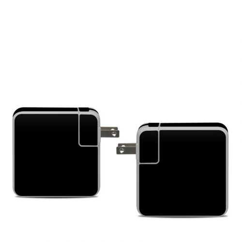 Solid State Black Apple 61W USB-C Power Adapter Skin