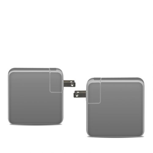 Solid State Grey Apple 61W USB-C Power Adapter Skin