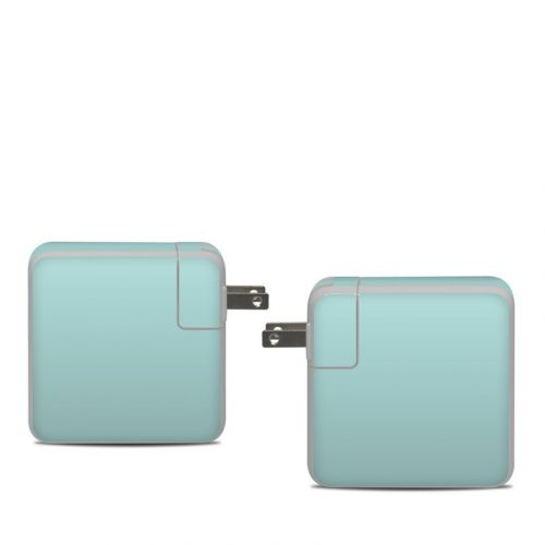 Solid State Mint Apple 61W USB-C Power Adapter Skin