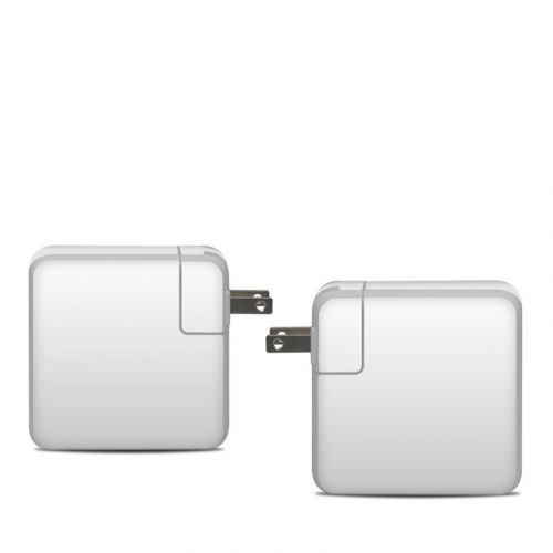 Solid State White Apple 61W USB-C Power Adapter Skin