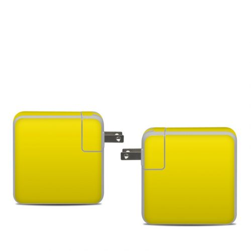 Solid State Yellow Apple 61W USB-C Power Adapter Skin