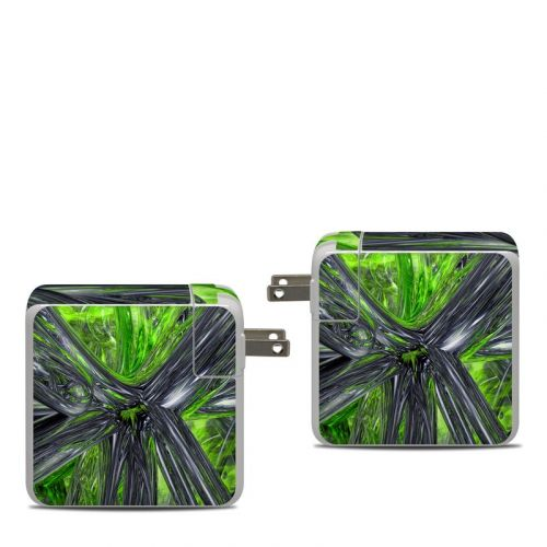 Emerald Abstract Apple 87W USB-C Power Adapter Skin