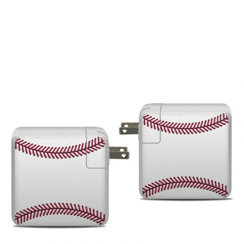 Baseball Apple 87W USB-C Power Adapter Skin