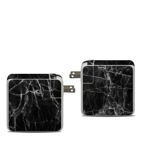 Black Marble Apple 87W USB-C Power Adapter Skin