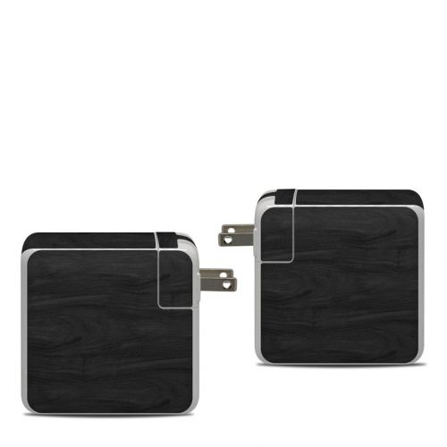 Black Woodgrain Apple 87W USB-C Power Adapter Skin