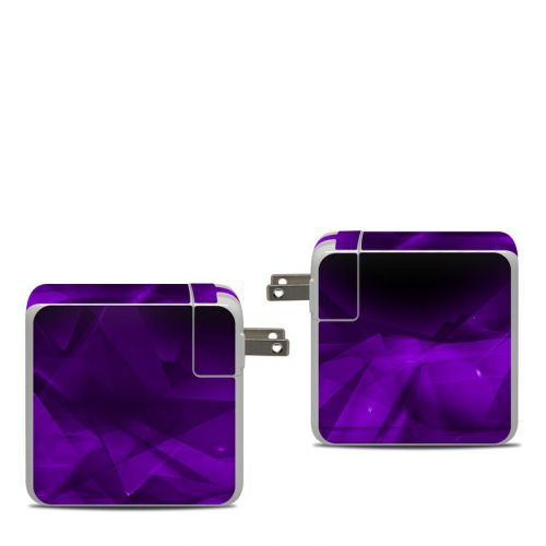 Dark Amethyst Crystal Apple 87W USB-C Power Adapter Skin