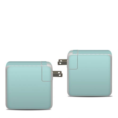 Solid State Mint Apple 87W USB-C Power Adapter Skin