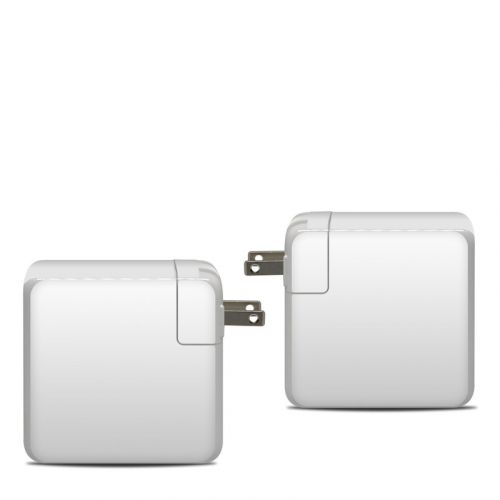 Solid State White Apple 87W USB-C Power Adapter Skin