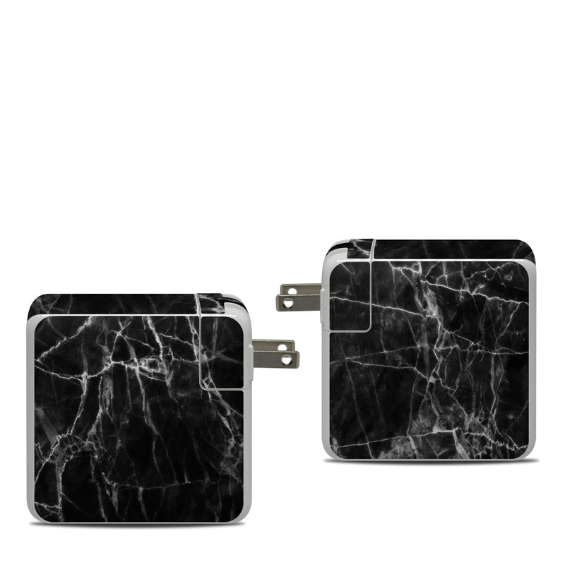Apple 87W USB-C Power Adapter Skin design of Black, White, Nature, Black-and-white, Monochrome photography, Branch, Atmosphere, Atmospheric phenomenon, Tree, Sky with black, white colors