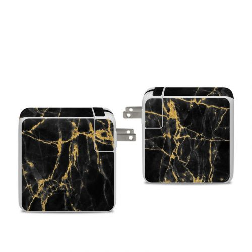 Black Gold Marble Apple 96W USB-C Power Adapter Skin
