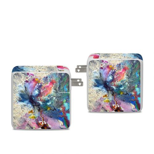 Cosmic Flower Apple 96W USB-C Power Adapter Skin