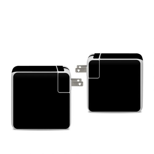 Solid State Black Apple 96W USB-C Power Adapter Skin