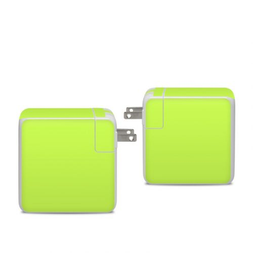 Solid State Lime Apple 96W USB-C Power Adapter Skin