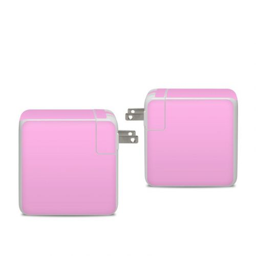 Solid State Pink Apple 96W USB-C Power Adapter Skin