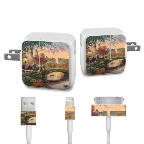 Autumn in New York iPad Power Adapter, Cable Skin