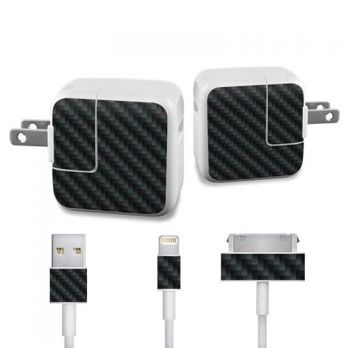 Carbon Fiber iPad Power Adapter, Cable Skin