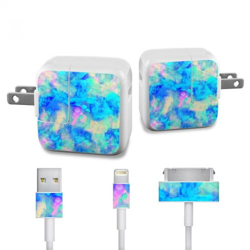 Electrify Ice Blue iPad Power Adapter, Cable Skin