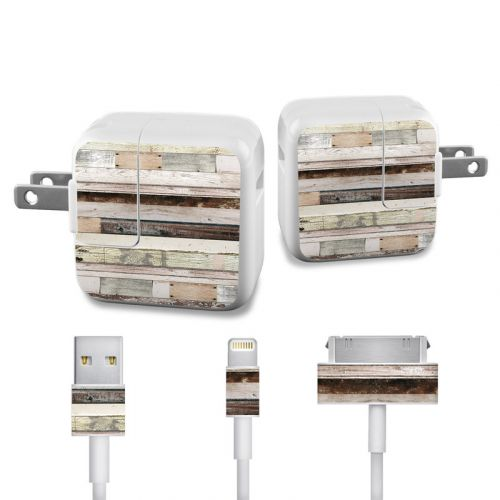 Eclectic Wood iPad Power Adapter, Cable Skin