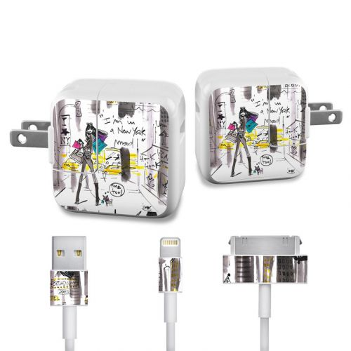 My New York Mood iPad Power Adapter, Cable Skin