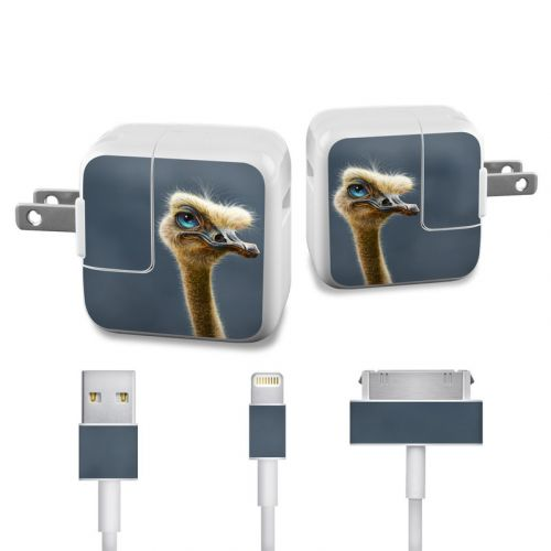 Ostrich Totem iPad Power Adapter, Cable Skin