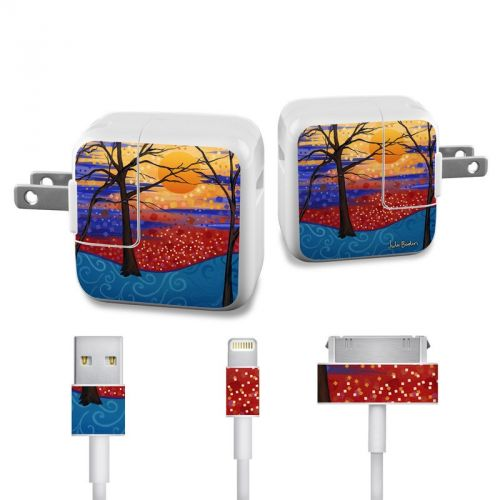 Sunset Moon iPad Power Adapter, Cable Skin