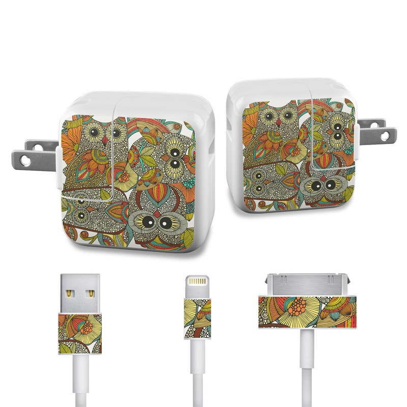 4 owls iPad Power Adapter, Cable Skin