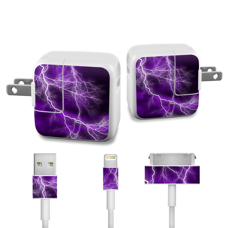 Apocalypse Violet iPad Power Adapter, Cable Skin