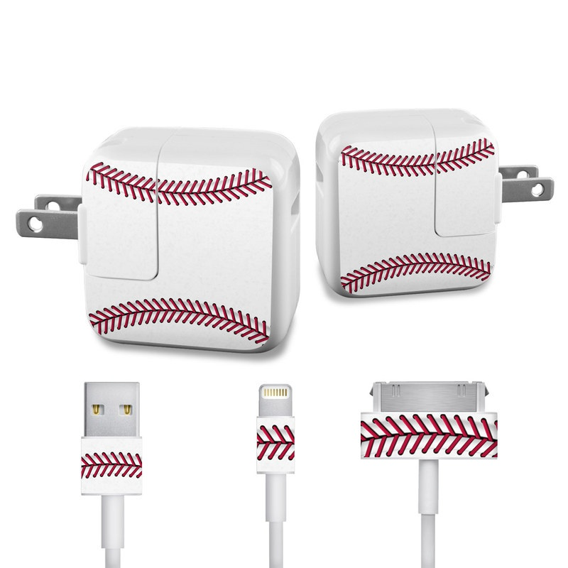 Baseball iPad Power Adapter, Cable Skin