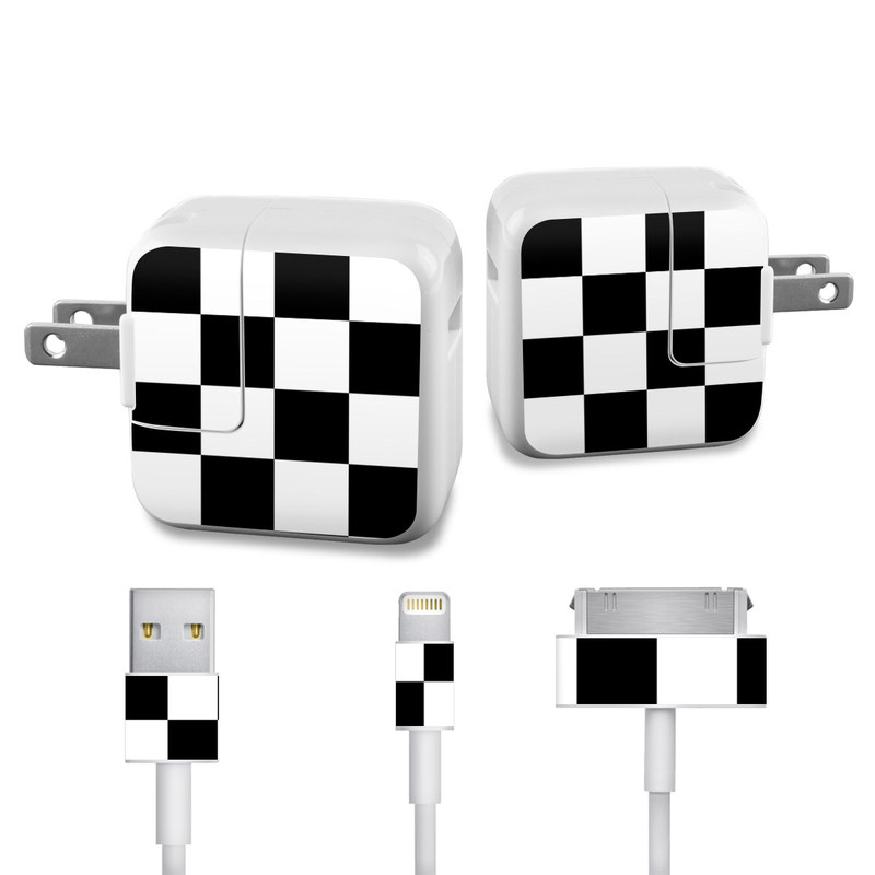 Checkers iPad Power Adapter, Cable Skin