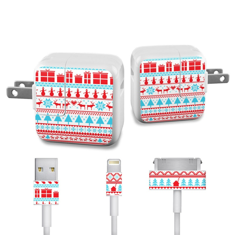 Comfy Christmas iPad Power Adapter, Cable Skin