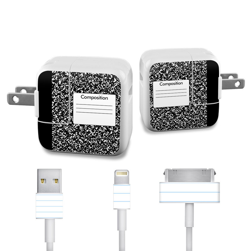 Composition Notebook iPad Power Adapter, Cable Skin