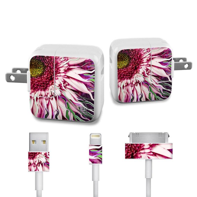 Crazy Daisy iPad Power Adapter, Cable Skin