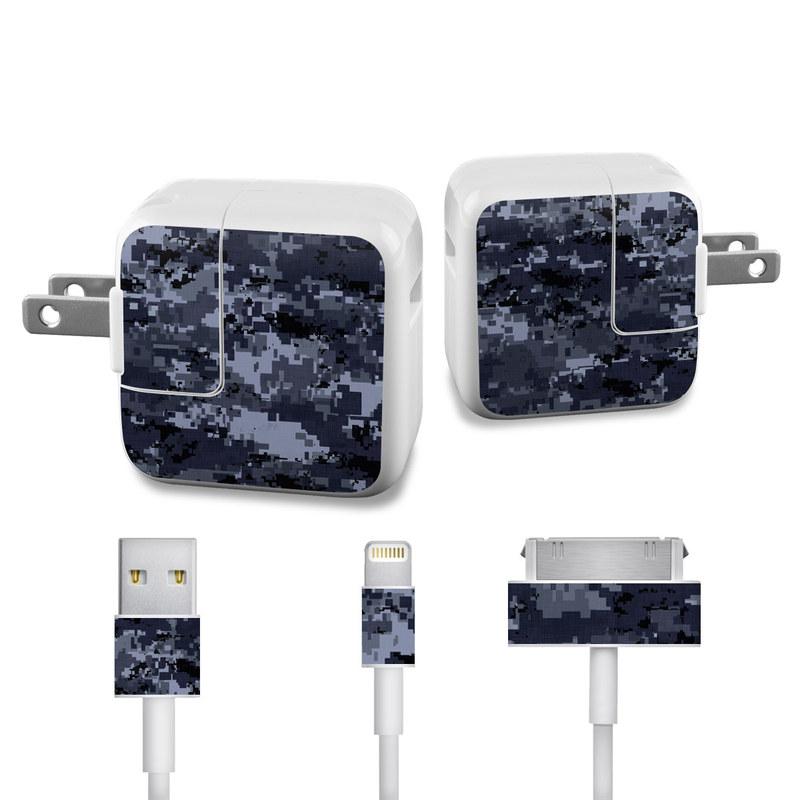 Digital Navy Camo iPad Power Adapter, Cable Skin
