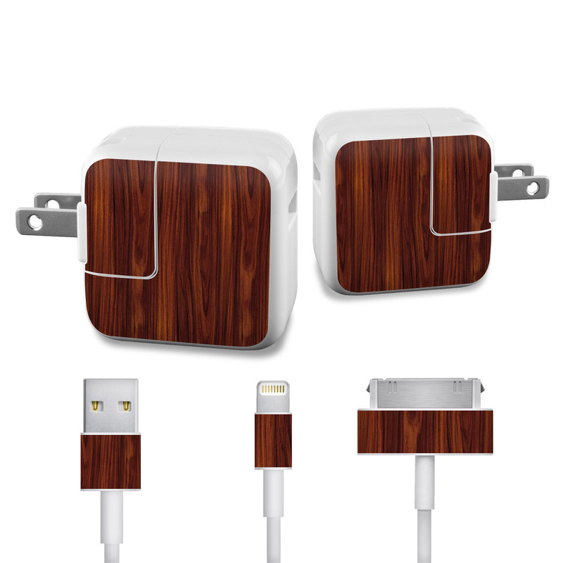 Power Cord Skin : Dark rosewood ipad power adapter cable skin istyles