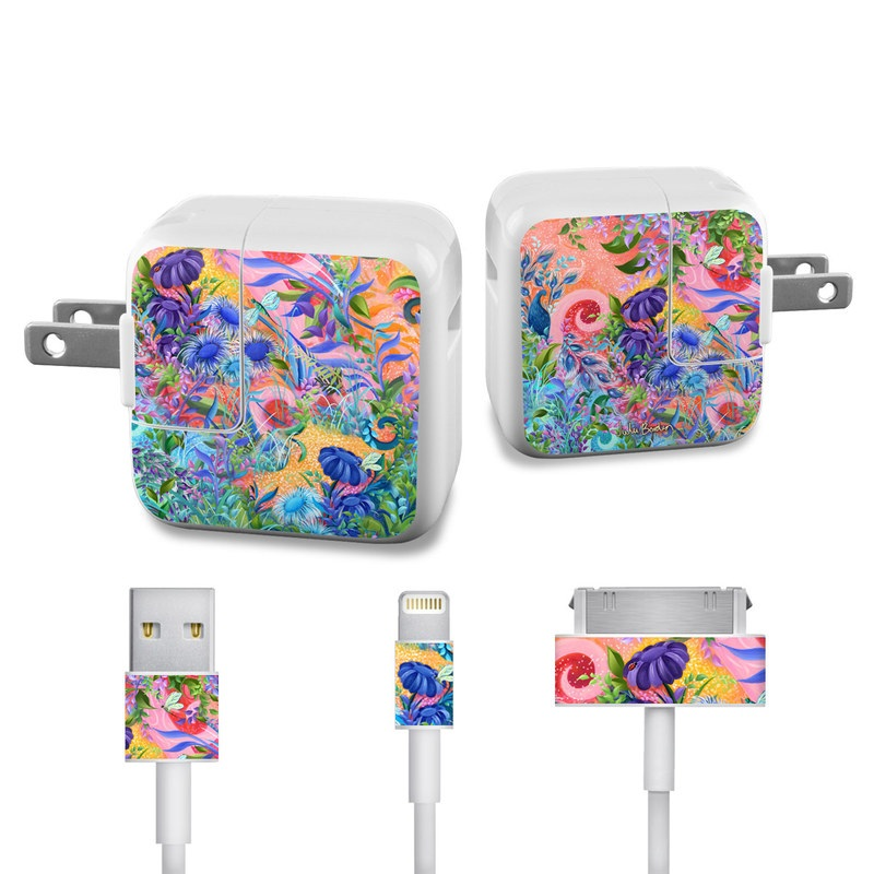 Fantasy Garden iPad Power Adapter, Cable Skin