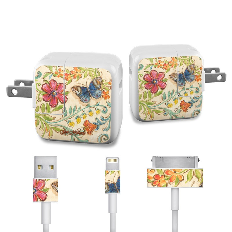 Garden Scroll iPad Power Adapter, Cable Skin