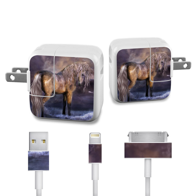 Lavender Dawn iPad Power Adapter, Cable Skin