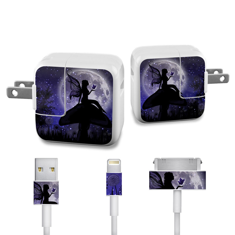 Moonlit Fairy iPad Power Adapter, Cable Skin