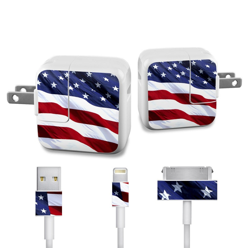 Patriotic iPad Power Adapter, Cable Skin