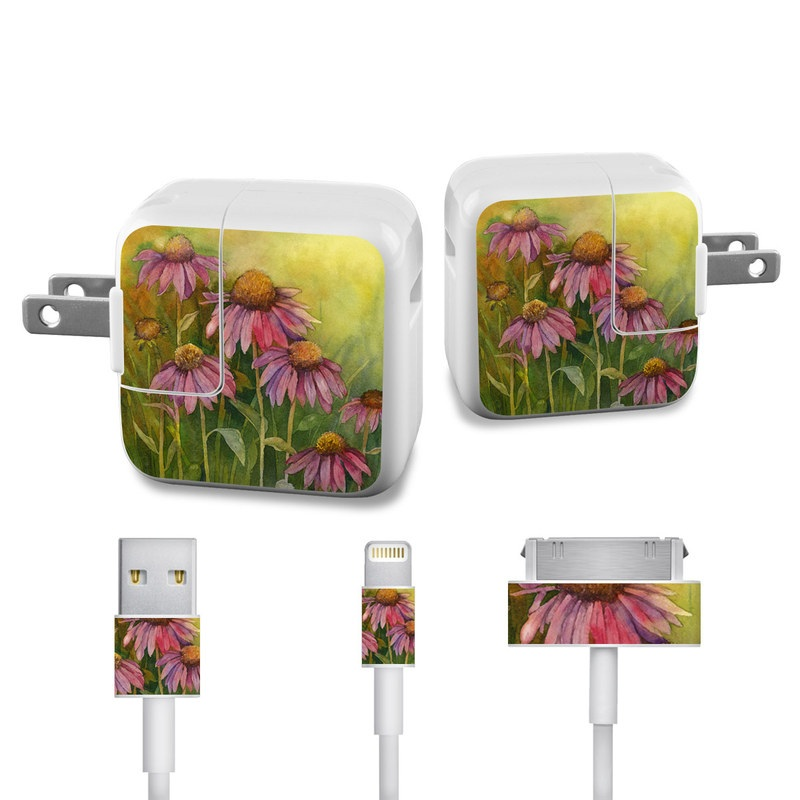 Prairie Coneflower iPad Power Adapter, Cable Skin