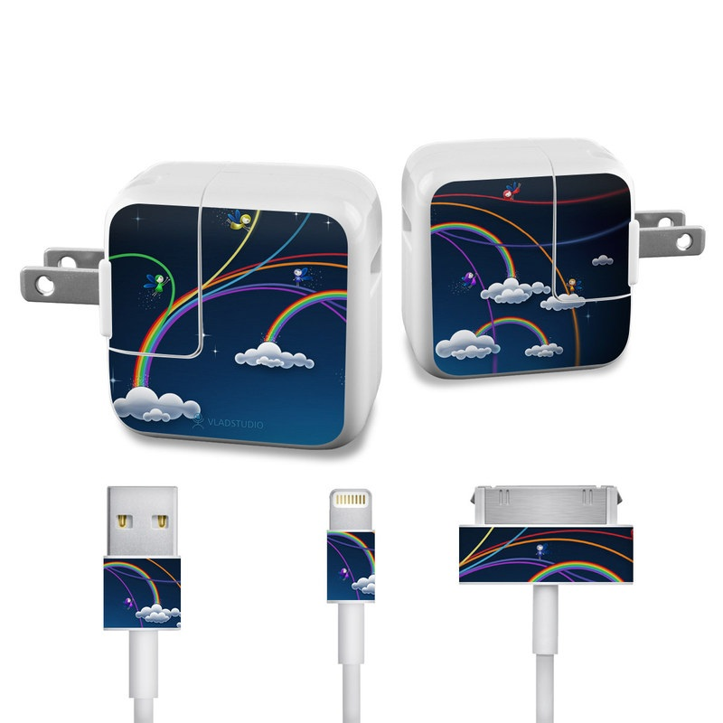 Rainbows iPad Power Adapter, Cable Skin