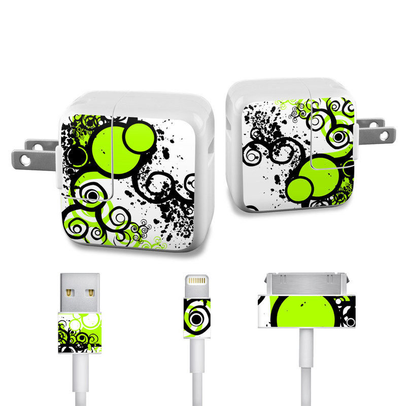 Simply Green iPad Power Adapter, Cable Skin