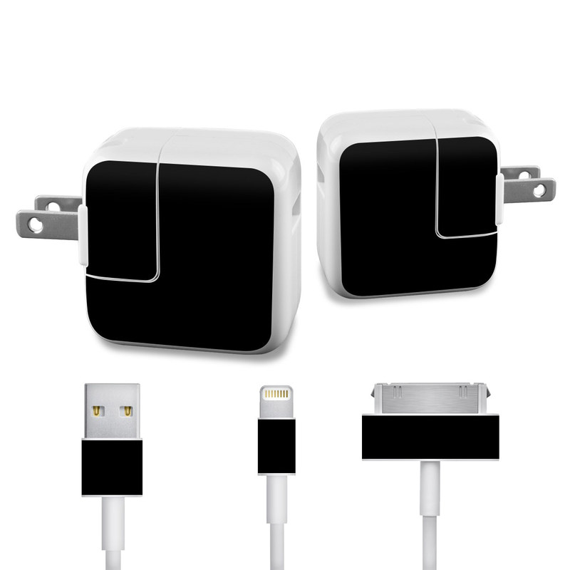Solid State Black iPad Power Adapter, Cable Skin