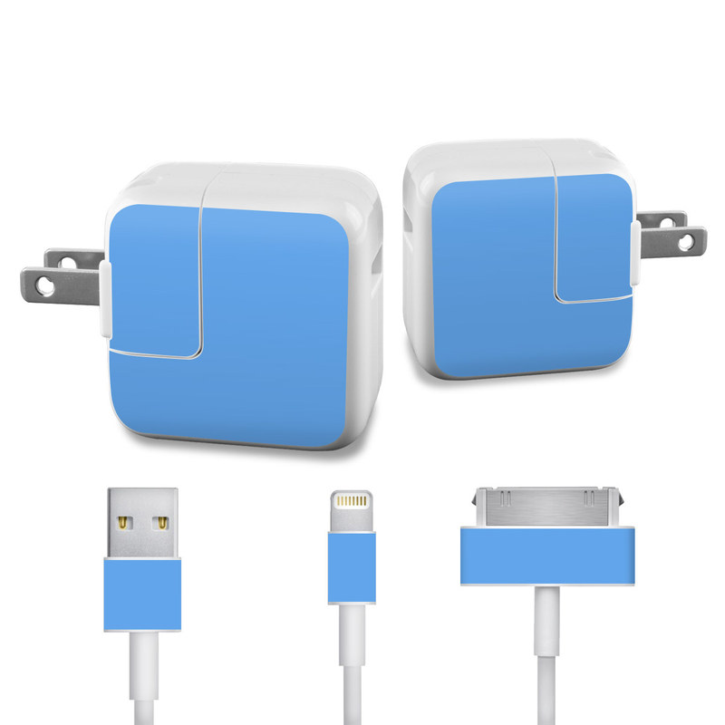 Solid State Blue iPad Power Adapter, Cable Skin