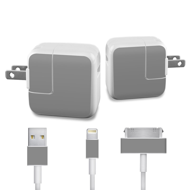 Solid State Grey iPad Power Adapter, Cable Skin