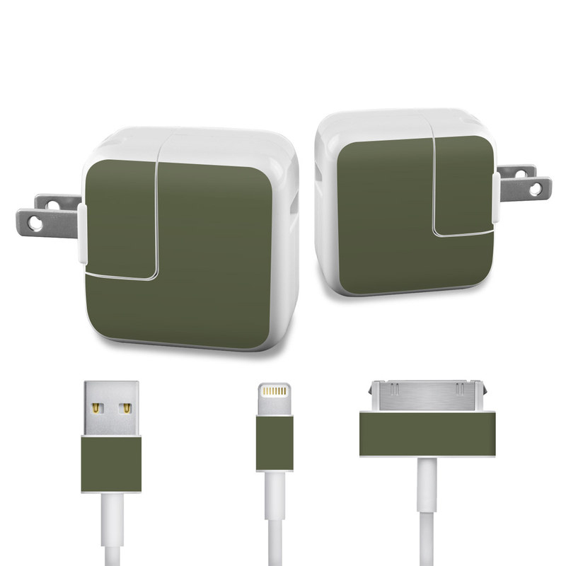 Solid State Olive Drab iPad Power Adapter, Cable Skin